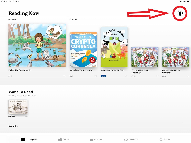 Apple_Books_Account_button_for_Apple_books_promo_code