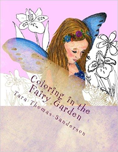 Coloring in the fairy garden book cover