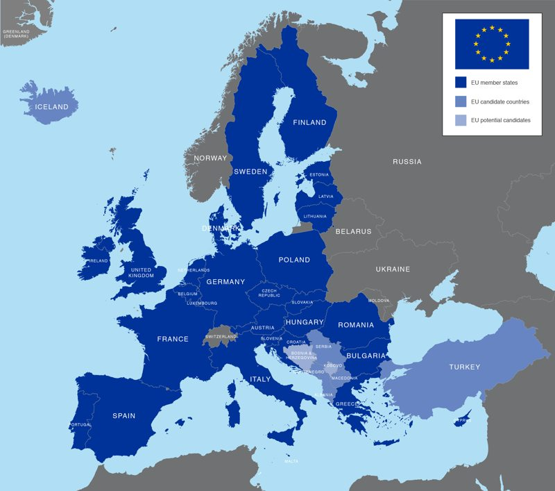 EU countries 2018