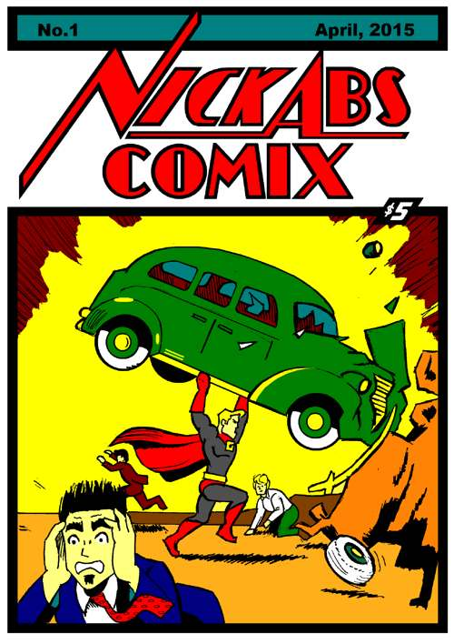 A classic cover art for Game Guy comic