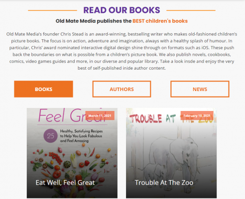 Old Mate Media books on the new website