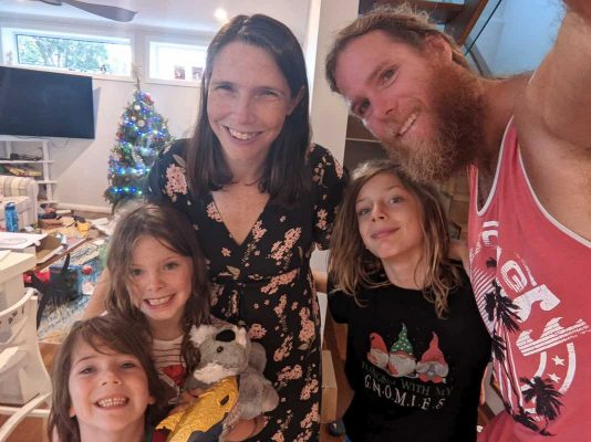 Chris, Kate and family