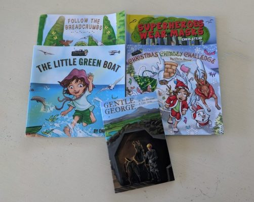 Age 6-8 years old - The Little Green Boat, Follow The Breadcrumbs, Christmas Chimney Challenge and Superheroes Wear Masks and 1 x early chapter book, Gentle George