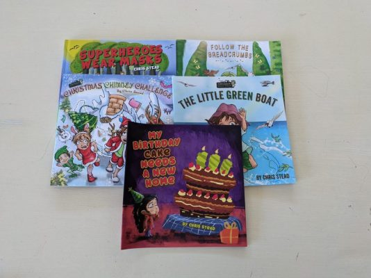 Age 1-5 years old The Little Green Boat, Follow The Breadcrumbs, Christmas Chimney Challenge, My Birthday Cake Needs a New Home and Superheroes Wear Masks