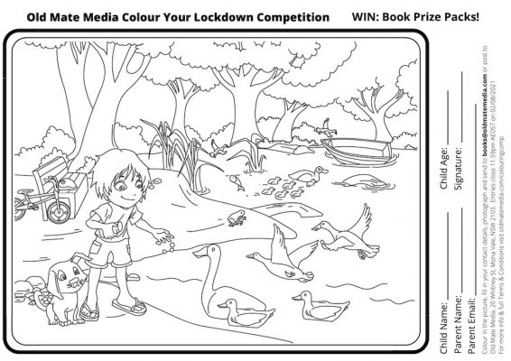 Old Mate Media Colour Your Lockdown Competition
