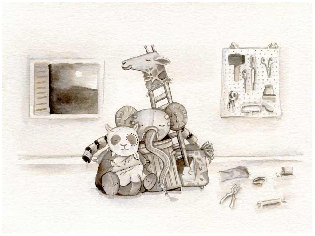 An image from A Very Strange Zoo by Chris Stead